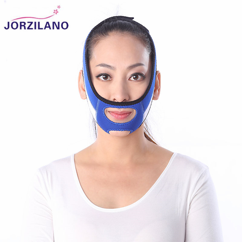 JORZILANO Thin Face Mask Slimming Facial Thin Masseter Double Chin Skin Care Thin Face Bandage Belt Massage & Relaxation Tools health care body massage beauty thin face mask the treatment of masseter double chin mask slimming bandage cosmetic mask korea