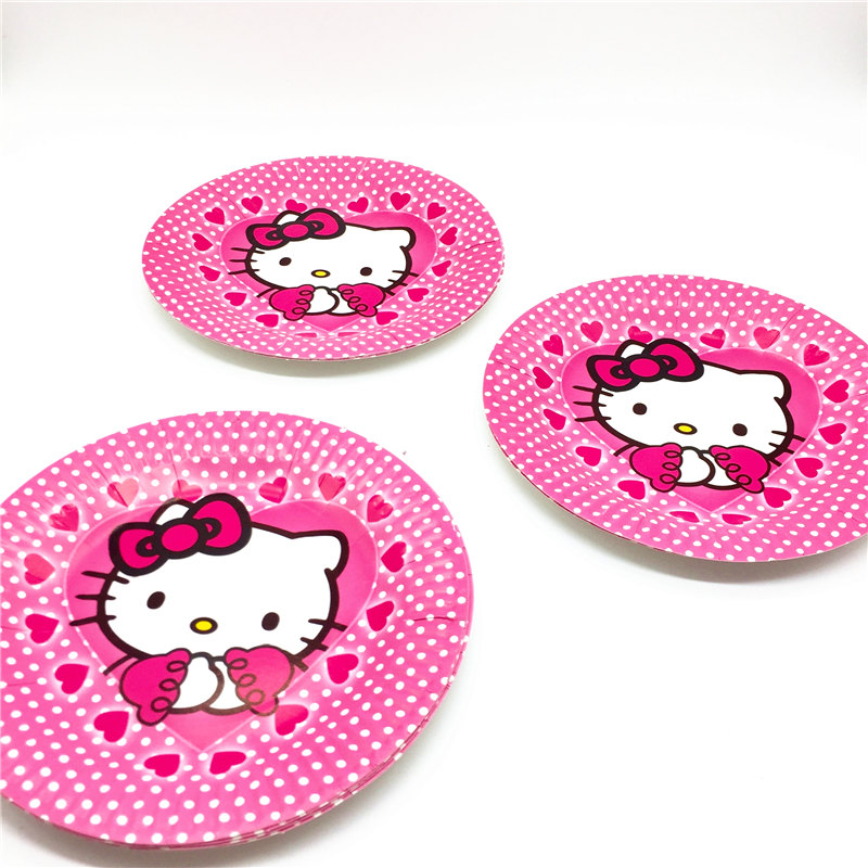 Hello Kitty Theme 51pcs lot Kid Birthday Party Cartoon Cup+Plate+Gift Bag+Napkin+Tablecover  Event Party Wedding Tableware Supply-in Disposable Party ... f92285ed90af0