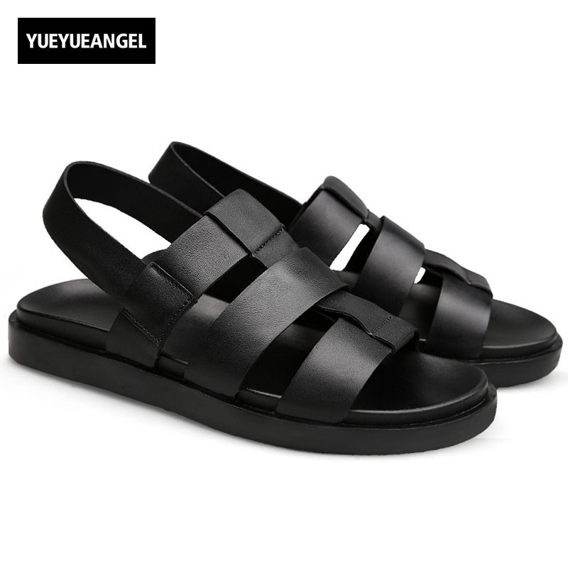 2018 New Arrival Summer Mens Sandals Roman Style Men Beach Sandals Platform Open Toes Sandals Casual Breathable Sandalias Hombre