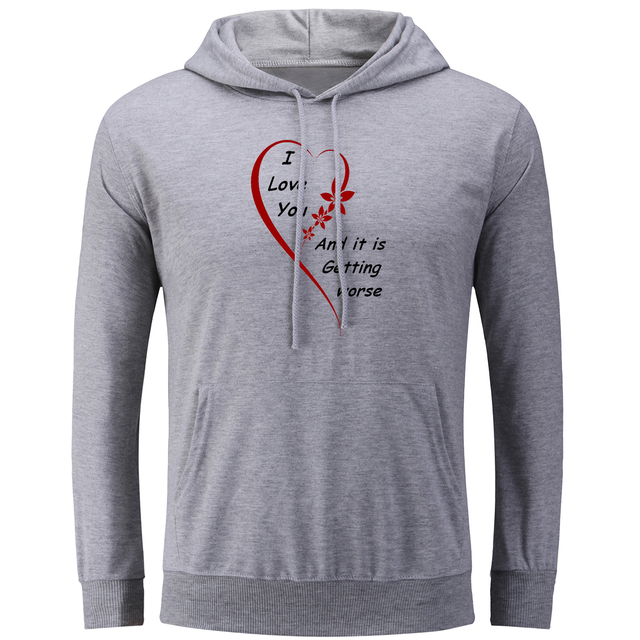 Love Quotes Clothing Fascinating Unii Love You Love Quotes Couple Hoodie Men's Women's Boy's