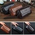 Мужская сумка-мессенджер  из натуральной кожи  для мобильного телефона