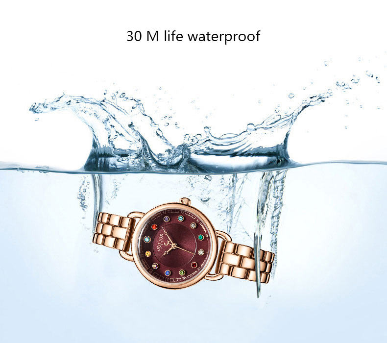 ساعة يد نسائية مرصعة ب 12 لون من حجر الراين 8