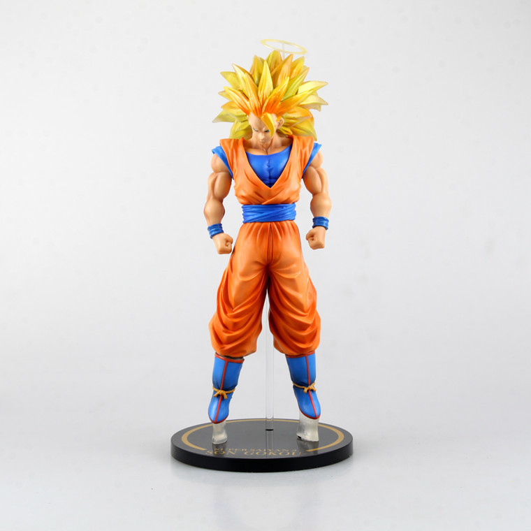SAINTGI Dragon Ball Z Action Figures Collectible Toy Anime Dragon Ball Z Action Figure Goku Super Saiyan 3 Son Goku PVC 30cm BIG neca planet of the apes gorilla soldier pvc action figure collectible toy 8 20cm