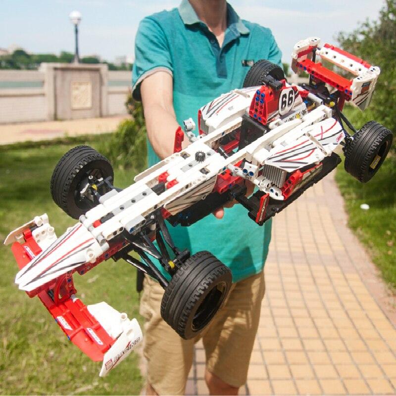 1219pcs F1 FORMULA Racing Super Car  Technic 2 Models Building Blocks Brick Toys For Children 42000