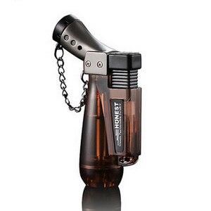 Compact Jet Butane Lighter Torch Gas Cigarette 1300 C Fire Windproof Spray Gun Lighter Pipe Cigar Turbo Lighter No Gas