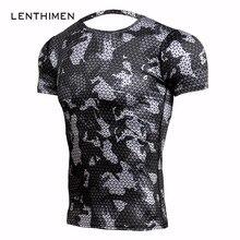 ФОТО new fitness t shirts men compression shirts bodybuilding camouflage 3d t shirt men crossfit gyms t-shirts mma rashguard tshirt
