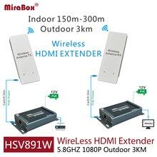 HSV891W 1080 P 5.8 ГГц беспроводной HDMI удлинитель с аудио эксрактор включает передатчик and приемник может продлить 3 км открытый