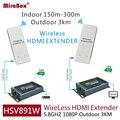 Hsv891w 1080 p 5.8 ghz wireless hdmi extender com extrator de áudio inclui transmissor e receptor pode estender 3 km ao ar livre