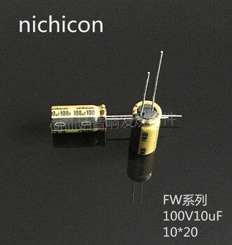10pcs/20pcs NICHICON capacitance FW series 100v100uf 10*20 audio super capacitor electrolytic capacitors free shipping