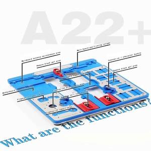 Image 2 - 12 IN 1 MIJING A22 + Moederbord Reparatie Armatuur PCB Houder JIG BOARD Voor iPhone 5 S/6/ 6 S/6SP/7/7 P/8/8 P/XR Onderhoud Platform