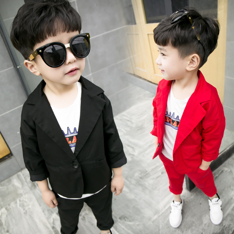 New arrival kids boys 2pcs clothing suit spring&summer fashion children gentlemen clothes party wedding costume coat + pants