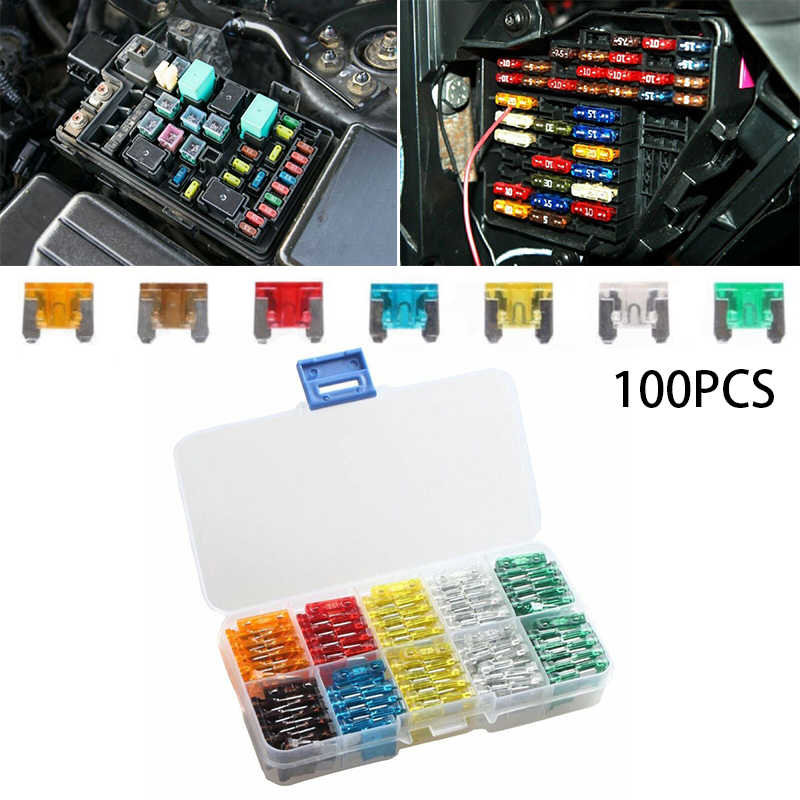 [SODI_2457]   1 Set Of ( 100PCS)Car Mini Low Profile Fuse Box 5 7.5 10 15 20 25 30 Amp  Fuse| | - AliExpress | 10 Amp Fuse Box |  | AliExpress