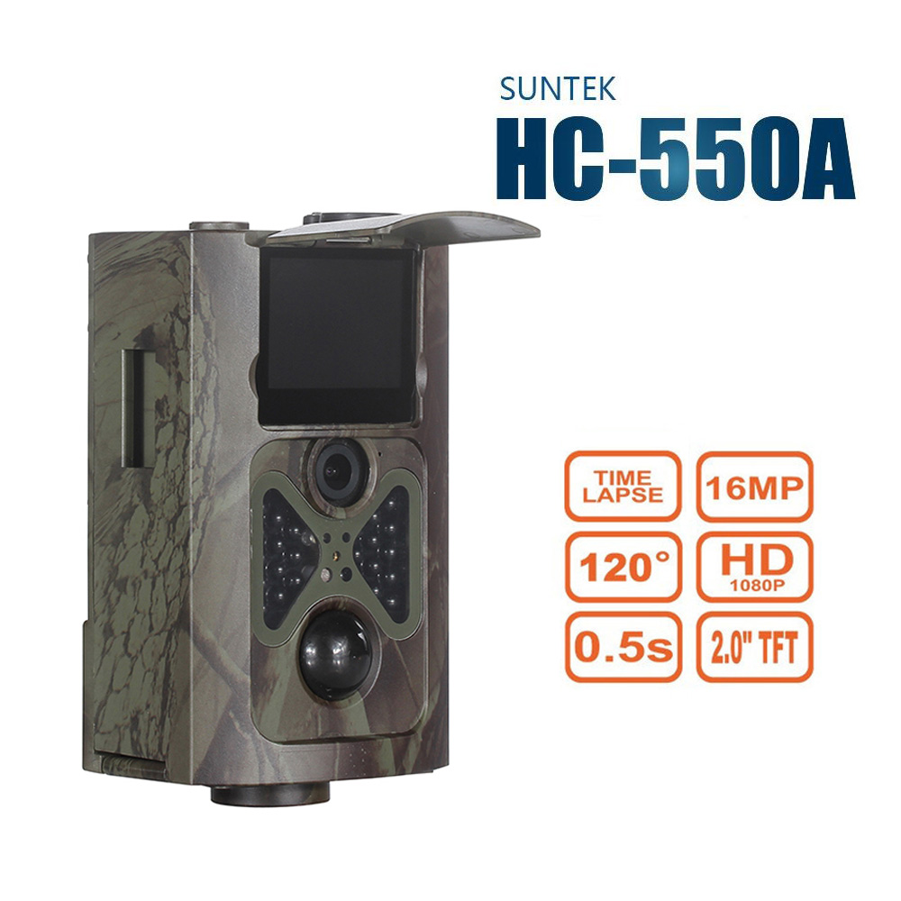12MP Digital Scouting Trail Camera 940NM Invisible Infrared Hunting Camera 2.0' LCD Hunter Cam HC550A digital 940nm hunting camera invisible infrared 12mp scouting trail camera 2 4 lcd hunter cam s660