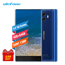 Ulefone MIX 4G 5.5″ Smartphone 4GB 64GB Octa Core Celular Android 7.0 Fingerprint Gyro Compass 13MP Dual Back Camera Cell Phone