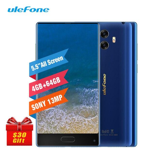 "Ulefone MIX 4G 5.5"" Smartphone 4GB 64GB Octa Core Celular Android 7.0 Fingerprint Gyro Compass 13MP Dual Back Camera Cell Phone"