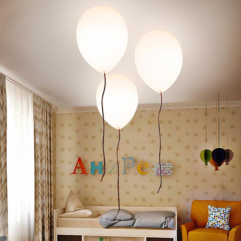 Modern Children Led Ceiling Lights For Living Room Bedroom Bedside Study Aisle Lights White Balloons Glass Ceiling Lamp