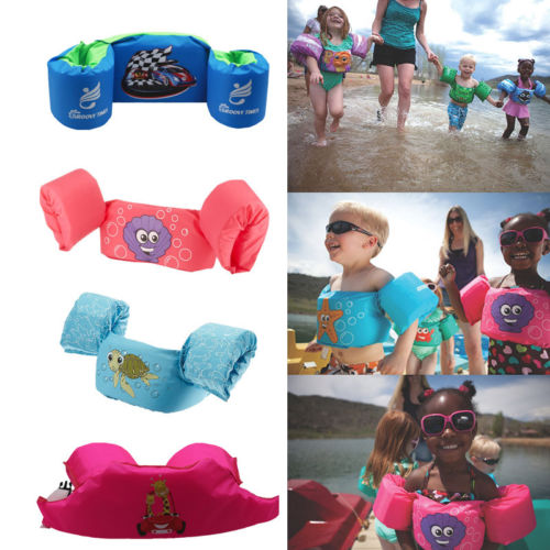 Hot Puddle Jumper Swimming Water Sports Deluxe Life Jacket Safety Vest For Kids Baby(China)