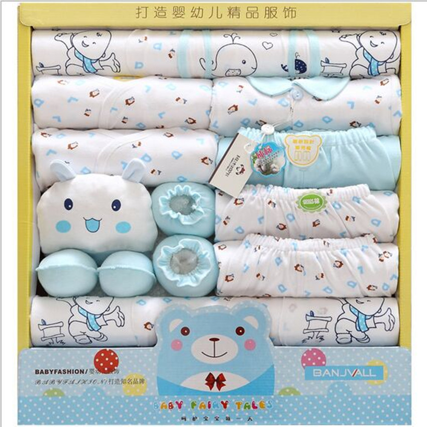 19 Piece 100% Cotton Baby Newborns Gift Set Baby Girl Clothes Sets Spring And Summer Character O-NockLong Sleeve Baby Hot Sale