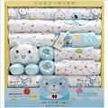 19 Unidades 100% Algodón Set de Regalo de Bebé Recién Nacidos Del Bebé de La Muchacha Sistemas de la ropa de Primavera Y Verano Carácter O-cuello Manga NockLong Bebé Caliente venta