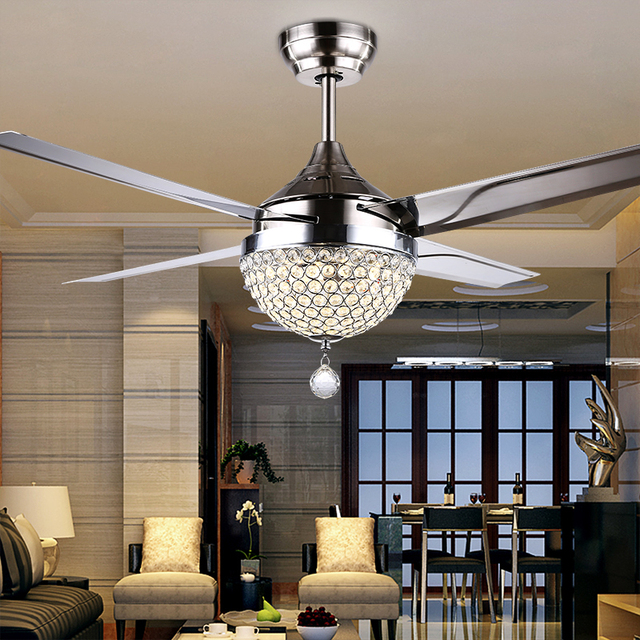 Ceiling Fan With Chandelier Light: Gale Crystal Light LED Ceiling Light Restaurant Bedroom