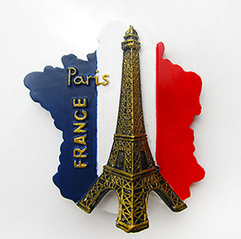 french flag eiffel tower souvenirs creative refrigerator fridge magnets home decoration gifts. Black Bedroom Furniture Sets. Home Design Ideas