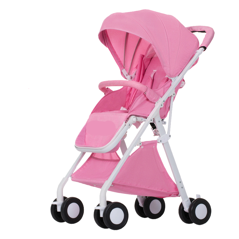 Fashion Folding High Landscape Baby Stroller Portable Lightweight Baby Cart Lying Newborn Carriage Aluminum Alloy Child Pram
