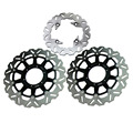Arashi Front Rear Brake Disc Rotors Set For Honda 2000 2001 CBR929RR & 2002 2003 CBR 954RR, Black