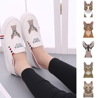 Cat Kawaii Printing Low Top Comfortable And Soft sneakers for women College Customized Trendy off white shoes A194112