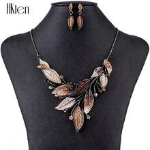 MS1504798 Модные Ювелирные наборы ожерелье высокого качества наборы для женщин ювелирные изделия Разноцветные кристаллы смолы лист дизайн вечерние подарок