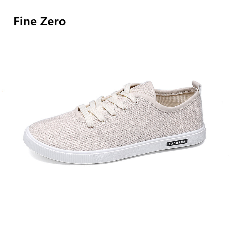 Summer Shoes Loafer Spring Canvas Breathable Lace-Up Driving Zapatos Men Hombre