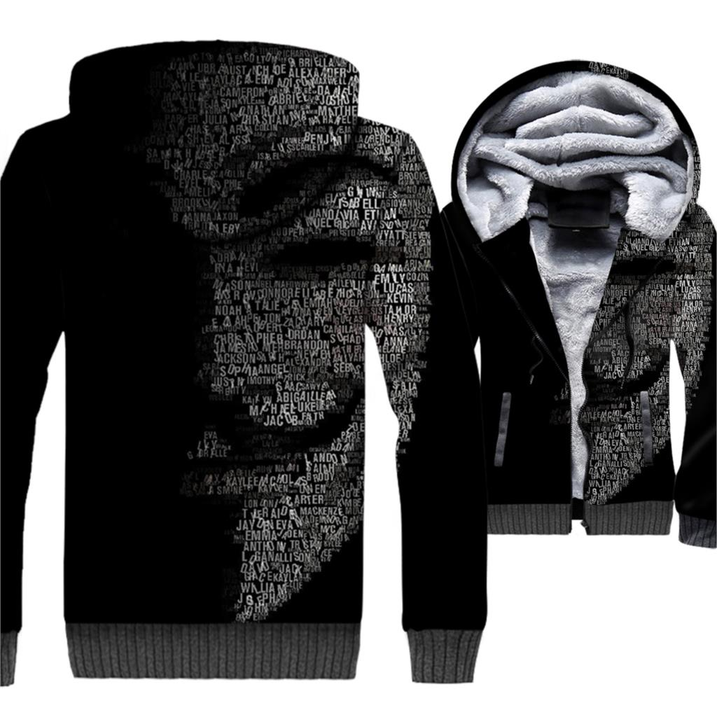 Fashion Mens Clothing 2019 New 3D Printed Hoodies Hip Hop Unisex Zipper Coat Jacket Funny V For Vendetta Fleece Warm Sweatshirts in Hoodies amp Sweatshirts from Men 39 s Clothing