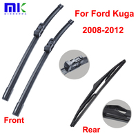 QEEPEI Wiper Blades For Ford Kuga 2008 2012 Combo Front And Rear Beat Silicone Rubber Window