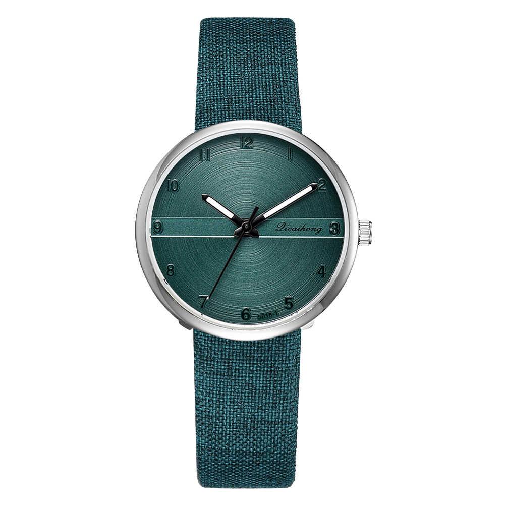 2019 модные арабские цифры джинсовая лента, сиденье из искусственной кожи Женские кварцевые наручные часы