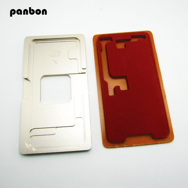 Panbon Mold Outer Glass Lens Alignment aluminium Mould With Laminating Mat Pad For iPhone X LCD Touch Screen Refurbishment