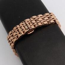 14 мм 16 мм 18 мм 20 мм 22 мм 24 мм ремешки для наручных часов прямой конец замена мода из Розового золота часы ремешок браслеты новый полированный