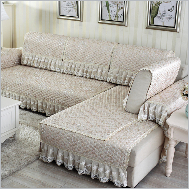 Europe Sofa Cover Four Seasons Quilting Simple Modern Thick Non Slip Leather Couch