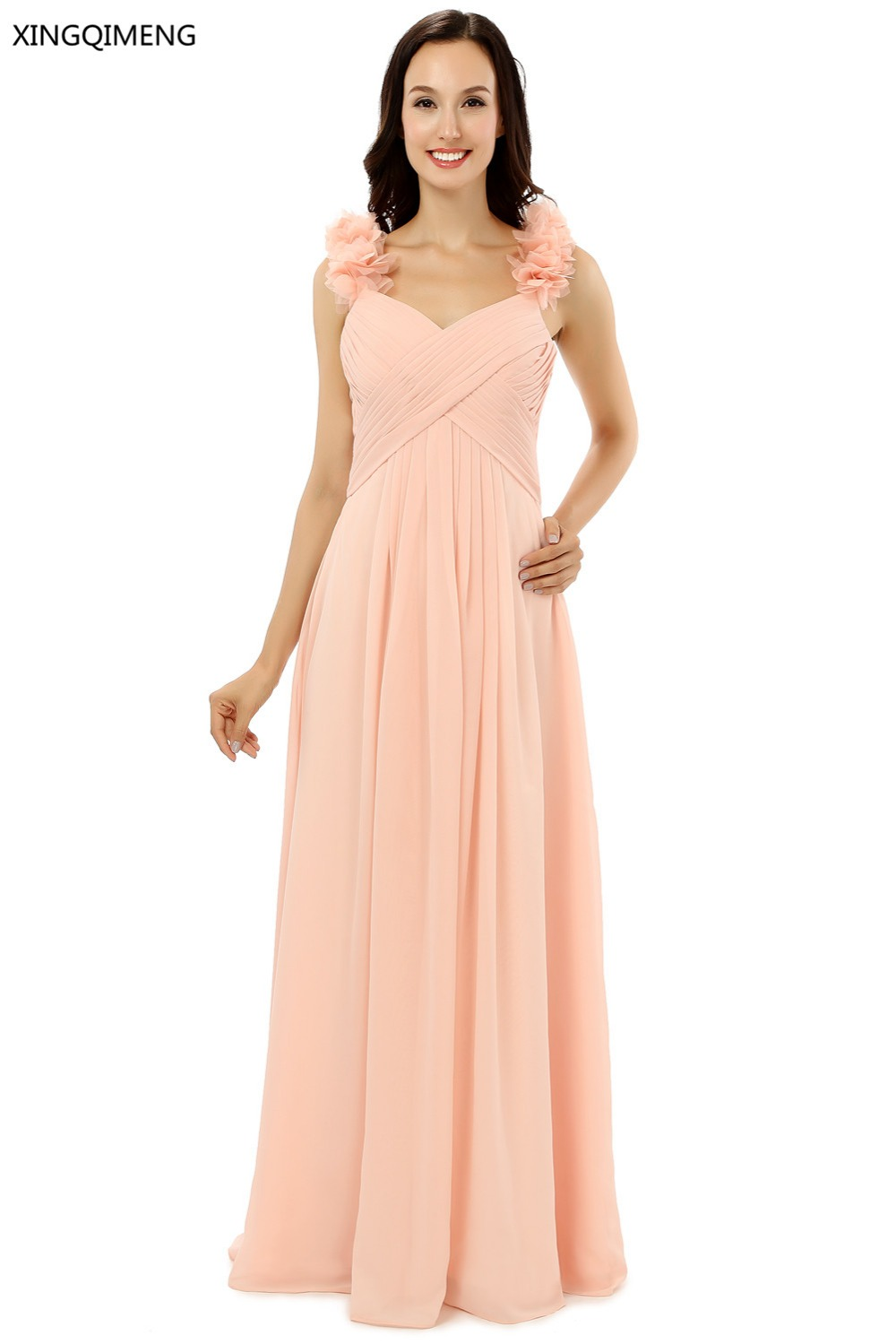 Online buy wholesale blushing pink bridesmaid dresses from china cheap bridesmaid dresses 2017 blush pink bridesmaid dress floor length wedding party dresses custom made ombrellifo Gallery