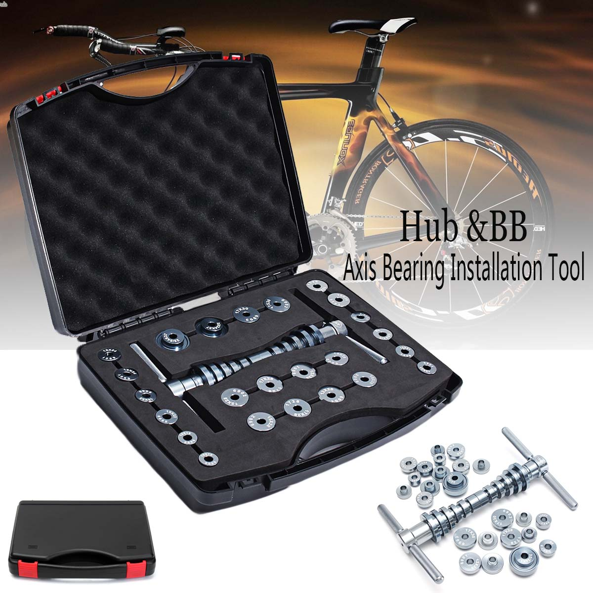 Новый велосипедный спорт каретка концентратор велосипед BB оси удаления подшипника установка комплект ручной инструмент