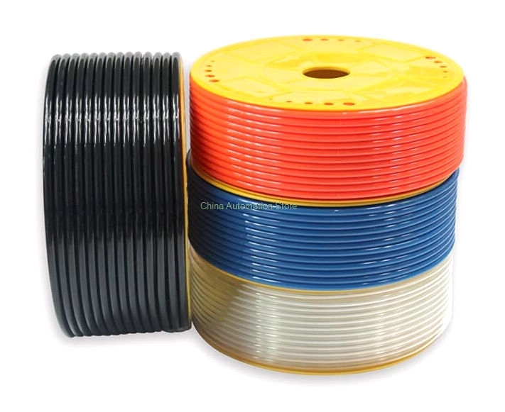 Pneumatic Air Hose OD 10mm ID 6.5mm PU Tube Plastic Flexible Pipe PU 10*6.5 Polyurethane Tubing  Red Color