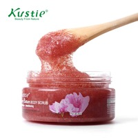 Kustie Deep Cleansing Exfoliating Cherry Blossom Body Scrub With Gentle Soft Plant Granules 100ml