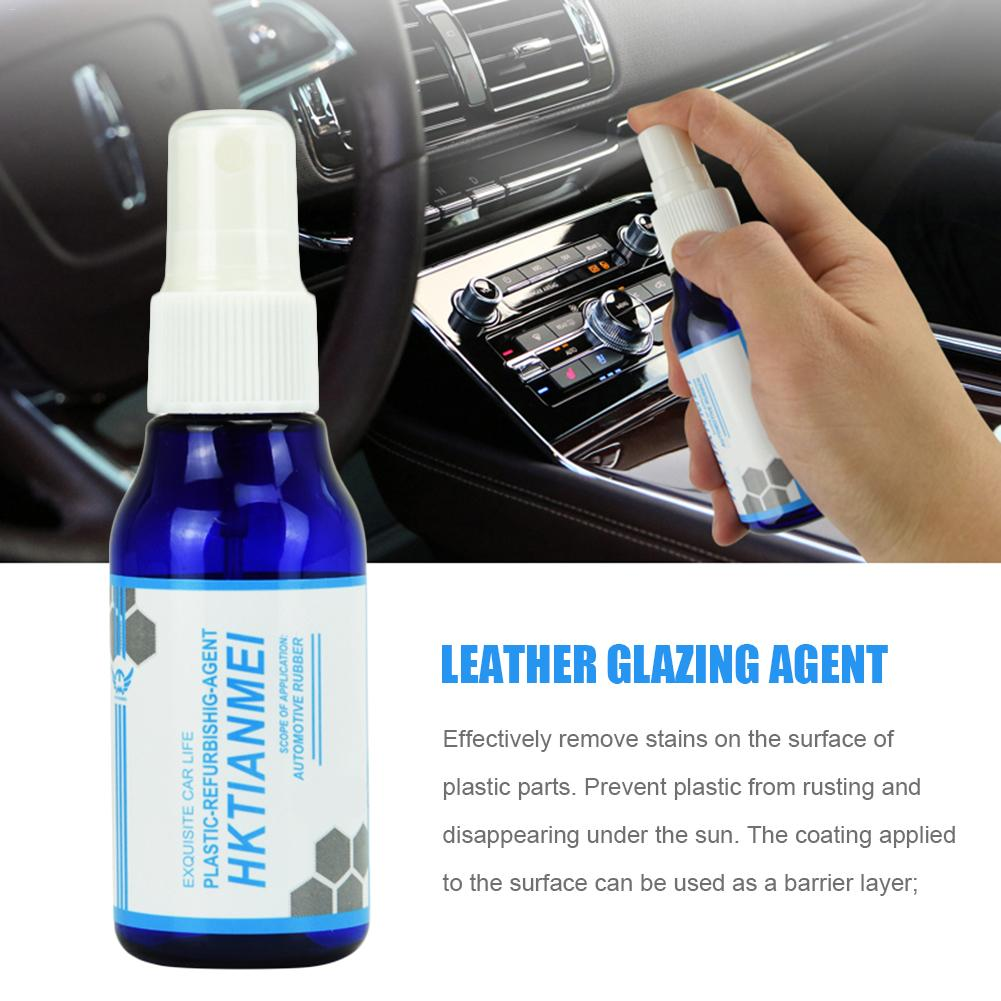 Car Interior Decorative Wax Leather Glazing Waterborne Panel Coating Plastic Renovation Agent Liquid Glass 50ML