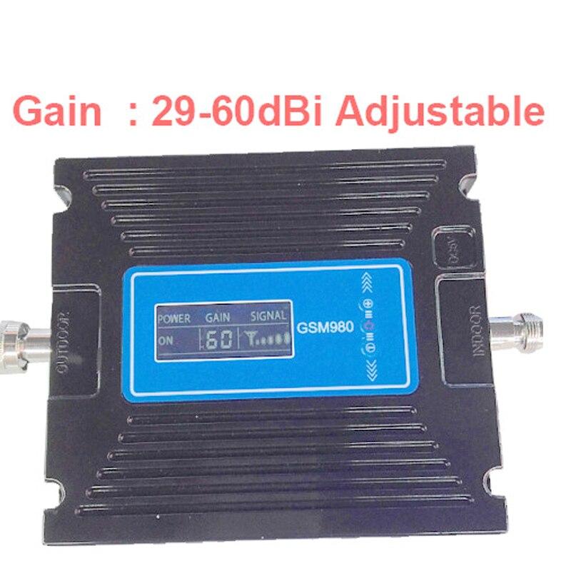Pour la russie gain réglable gain 20-60dbi LCD affichage téléphone booster répéteur GSM répéteur, amplificateur GSM signal booster gsm