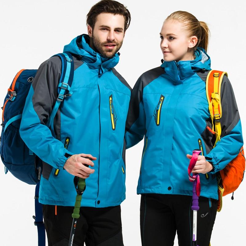 Veste d'extérieur Couple hiver chasse coupe-vent Ski manteau randonnée pluie Camping pêche vêtements Sport Camouflage vestes hommes manteau