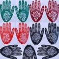 1 Sheet Fashion India Henna Temporary Tattoo Stencils For Hand Leg Arm Feet Body Art Decal For Women 15x21cm Randomly