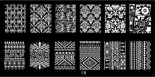 1 Pcs 12*6cm Nail Stamping Plate Flower/Geometric Wave Slide Patterns Manicure Stencils Art Image Template DIY Tool ##JR18