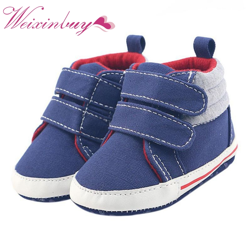 2017 Latest Baby Soft Bottom Leisure Sports Anti-skid Step Shoes Canvas Comfortable Wear