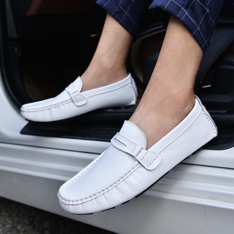 De 2019 En Mode Homme Mâle bz3598 Printemps Mocassin Brown Mocassins bz3598 Marque bz3598 Véritable noir Blue blanc Conduite Chaussure Chaussures Cuir Luxe bleu Black bz3598 White Casual Bateau Brown Hommes dtd0wzq