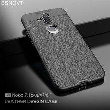For Nokia 8.1 Case Soft Silicone PU Leather Bumper Anti-knock Phone X7 2018 Cover / Funda