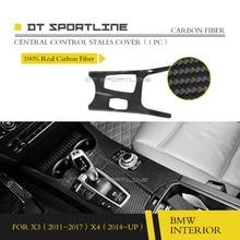 купить Real Carbon Fiber material Car interior mouldings Door Panel Cover stripe trim Suitable For BMW F25 F26  2014 2015 2016 дешево