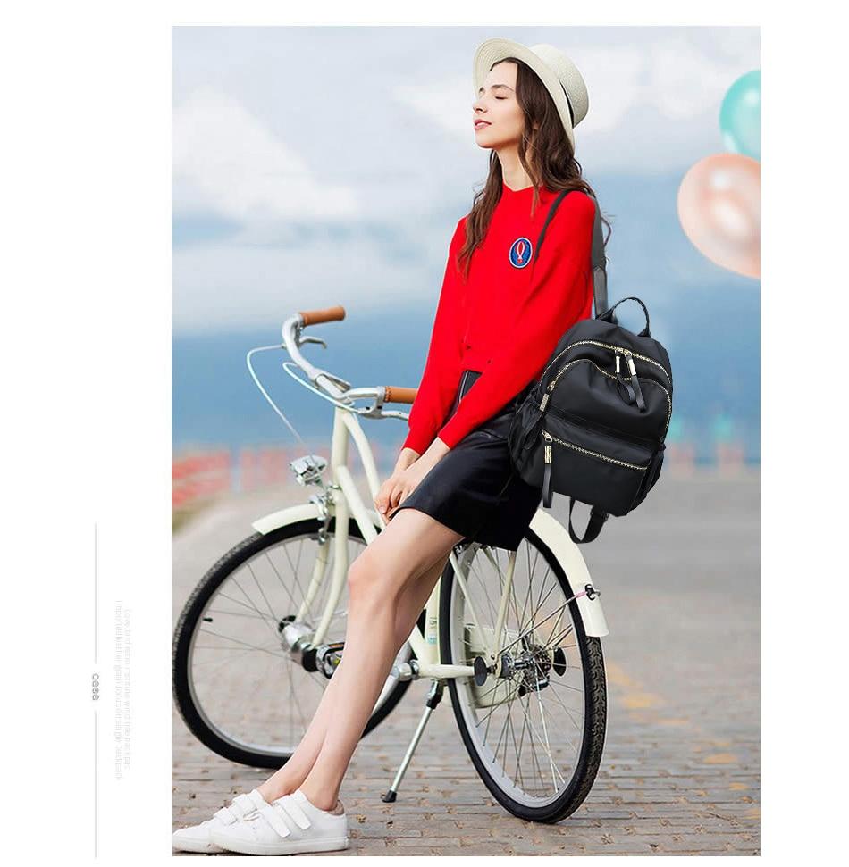 HTB13WtkXEjrK1RkHFNRq6ySvpXaK Herald Fashion Backpack Women Leisure Back Pack Korean Ladies Knapsack Casual Travel Bags for School Teenage Girls Bagpack